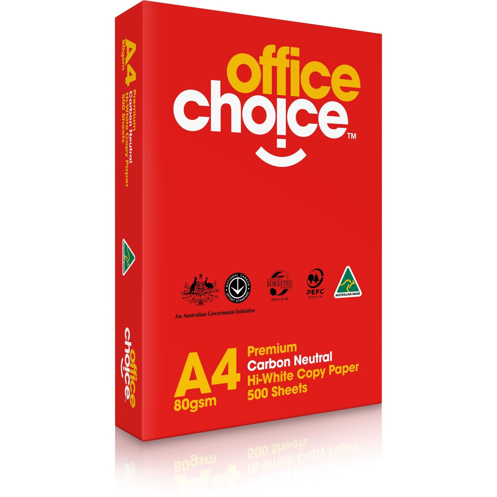 OFFICE CHOICE 80GSM A4 PREMIUM Copy Paper 500 Sheets Ream