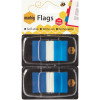 Marbig Flags Coloured Tip Twin Pack 25x44mm 50 sheet per pack Blue Pack Of 2