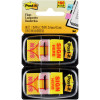 POST-IT 680-SH2 FLAGS Sign Here Yellow 25x43mm Pack of 2