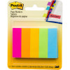Post-It 670-5AN Page Markers 12x44mm Neon Assorted 100 Sheet Pad Pack of 5