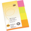MARBIG BRILLIANT PAGE MARKERS 20x50mm 160Sht Assorted Pack of 160
