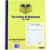 SPIRAX 500 TAX INV/STMNT BOOK Quarto
