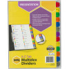 MARBIG MULTIDEX DIVIDERS A4 A-Z Tab White Includes 26 Tabs