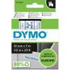 Dymo D1 Label Cassette Tape 12mmx7m Blue on White