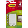 Command 17201-4PK Picture Hanging Strip Medium White Pack of 4