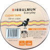 BIBBULMUN OFFICE TAPE 18mmX66m Clear Pack of 8