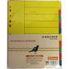 Bibbulmun Manilla Divider A4 10 Tab Bright Colours