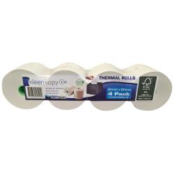 Kleenkopy Thermal Register Rolls 80x80x17mm 75m Roll Pack of 4