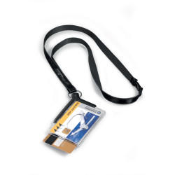 Durable Convention Card Holder Deluxe Duo Necklace Pack Of 10
