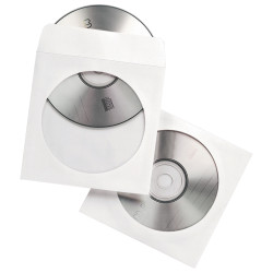FELLOWES CD ENVELOPES With Clear Window 100 Pack
