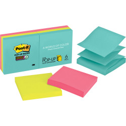 POST-IT POP UP NOTES R330-6SSMIA Miami Collection Pack of 6