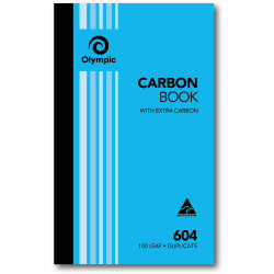 Olympic 604 Carbon Book Duplicate 200mmx125mm Record 100 Leaf