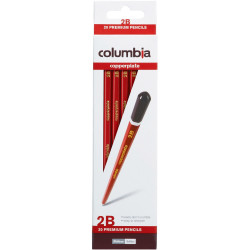 COLUMBIA COPPERPLATE PENCILS Hexagon 2B Pack of 20