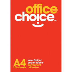 OFFICE CHOICE LASER LABELS Inkjet/Copier 8/Sht 99.1x67.7 Box of 100