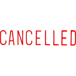 XSTAMPER STAMP CX-BN 1119 CANCELLED RED