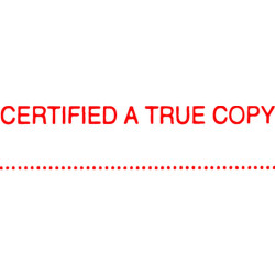 XSTAMPER STAMP CX-BN 1541 CERTIFIED A TRUE COPY RED