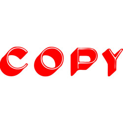 XSTAMPER STAMP CX-BN 1336 COPY RED