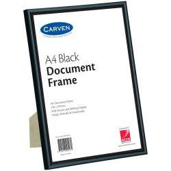 CARVEN CERTIFICATE FRAME A4 Desk/Wall Mountable Black