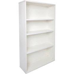 Rapid Span Bookcase 1200Hx900Wx315mmD 3 Adjustable Shelves All White