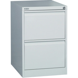 GO 2 DRAWER FILING CABINET H730mm x W460mm x D620mm Silver Grey
