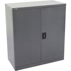 Go Steel Stationery Storage Cupboard 1015Hx910Wx450mmD Graphite Ripple
