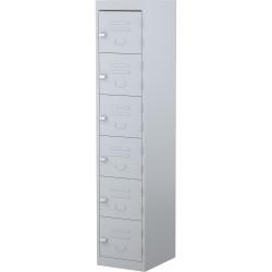 STEELCO PERSONNEL LOCKER 6 Door Silver Grey H1830XW380mm