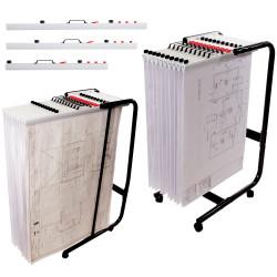 Planhorse Mobile 1000 Trolley A0/B1, 1000 Sheet Capacity