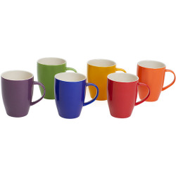 CONNOISSEUR MUGS 370ml Assorted Colors Set of 6 Set of 6