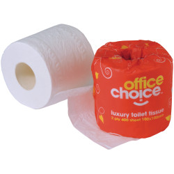 OFFICE CHOICE TOILET ROLLS Premium 2 ply 400 sheet Carton of 48