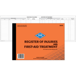 Zions RIFA Register Of Injuries & First Aid Treatment A4 Book 50 Page