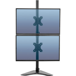 Fellowes Free Standing Monitor Arm Professional Series Dual Vertical Mount Black