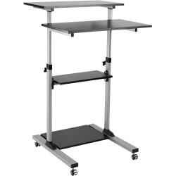 MOBILE COMPUTER CART  With Lockable Castors Height Adjustable